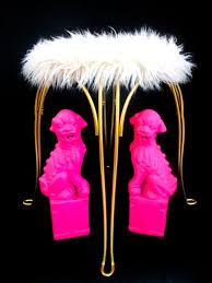 Metal Vanity Stool Vintage Hollywood Regency Faux Fur U0026 Gold Metal Vanity Stool