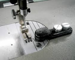 sewing machine roller guide gauge for leather work