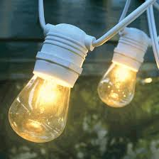 Commercial Grade Patio Light String by Outdoor Patio String Light Strand 54 U0027 Commercial Grade White Wire