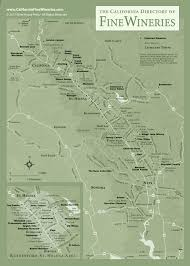 Napa Wine Map Map Of Fine Wineries In Napa Valley California
