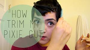 how i trim my pixie cut laura neuzeth