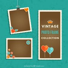 design templates photography free photo frame mockups vintage photography frames collection with heart balloons vector