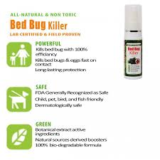 What Kills Bed Bugs Naturally Bed Bug Killer Spray Travel Pack 4 X 60ml