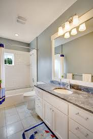 Mirror Bathroom Tiles Mirrored Subway Tile Powder Room Contemporary With Bathroom Mirror