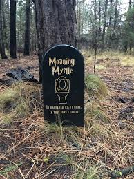 harry potter themed lawn yard ornament grave head stone tomb