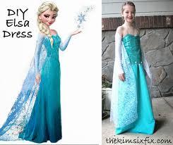diy elsa dress from frozen the kim six fix