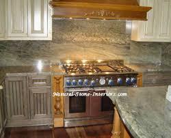 Kitchen Countertop Backsplash by Green Countertops Kitchen Green Butterfly Granite Backsplash