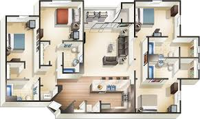 4 Floor Apartment Plan by Laramie Apartments The Pointe At Wyo