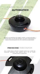 carretel de nylon automático para roçadeiras m10x1 25 flh r 38