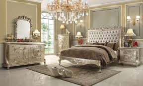 Tufted Headboard Footboard 5 Pc Queen Victoria Renaissance Style Antique Silver Queen Bedroom