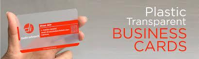Plastic Business Card Printer Plastic Cards Printing Print Premium Transparent Plastic