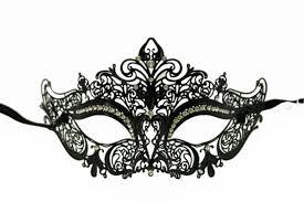 black venetian mask black metal venetian half eye mask 277987 masquerade mask