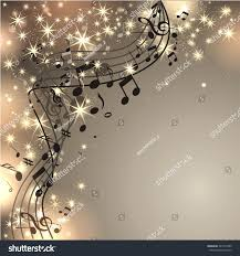 sparkling background glowing music notes stock illustration