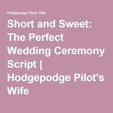 Seeking Pilot Script And Sweet The Wedding Ceremony Script Wedding