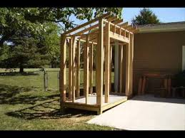 How To Build A Shed House by How To Build A Lean To Style Storage Shed Youtube