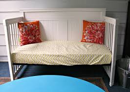 october morning crib turned porch daybed