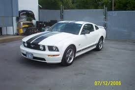 Black Mustang Stripes 2006 Mustang Gt Performance White W Black Stripes The Mustang