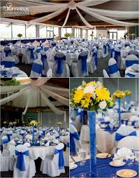 royal blue and yellow wedding centerpieces decorating of party