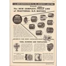 fasco fan motor catalogue f a smith mfg company 1948 fasco fractional hp motors vintage