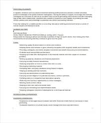 Investment Banking Resume Sample by Banking Resume Templates In Word 22 Free Word Format Download