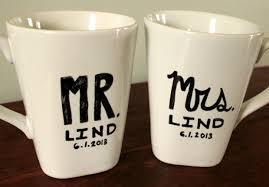 wedding gift mugs my new go to wedding gift diy mr mrs mug with the