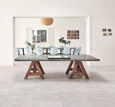 indoor outdoor porcelain stoneware flooring with stone effect