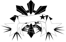 pinoy sun black u0026 white clip art at clker com vector clip art