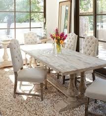 White Wooden Dining Room Chairs by Table White Rustic Dining Table Home Design Ideas