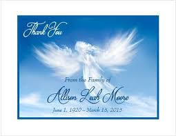 personalized thank you cards 12 sympathy personalized thank you cards angel cloud ebay