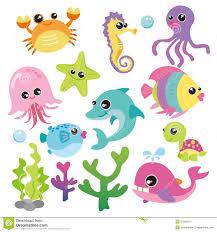 cute ocean animals background clipart clipartfest