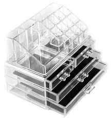 Cassettiera Porta Trucchi cosmetic organizer a 20 scomparti porta trucchi con pennelli