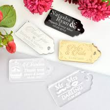 wedding gift tags engraved acrylic gift tags personalized favors