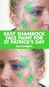 easy shamrock face paint for st patrick u0027s day paint designs