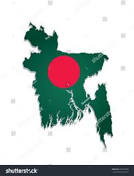 The National Map Map Bangladesh Image National Flag Stock Vector 202930780