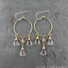 Wire Chandelier Earrings 1 Pale Green Jade Large U0026 Long Gold Dangle From Thegemgypsy On