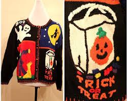 halloween sweater etsy