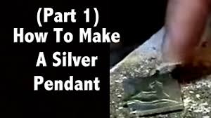 make silver necklace images Part 1 watch me make a silver pendant jewelry making tutorials jpg