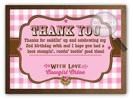 pink western birthday thank you cards di 233ty