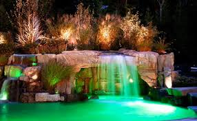 Outdoor Water Features With Lights by 15 Pool Waterfalls Ideas For Your Outdoor Space Home Design Lover