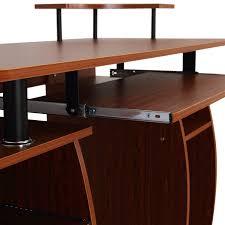 amazon com homcom home office dorm computer desk w elevated