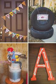 vintage garage inspired birthday party hostess with the