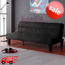 modern futon sofa bed convertible couch living room loveseat dorm