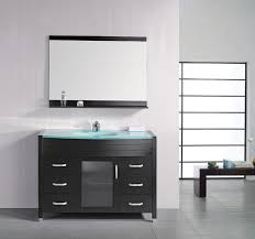Contemporary Bathroom Cabinets - modern vanity in bathroom floating sink vanity with freestanding
