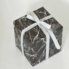 marble wrapping paper black marble wrapping paper with light grey texture ribbon papiretc