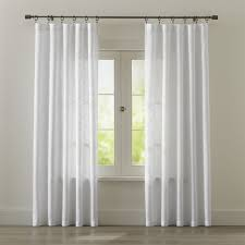 Gray And White Curtains with Curtain Panels And Window Coverings Crate And Barrel