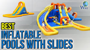 8 best inflatable pools with slides 2017 youtube