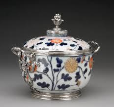 lidded bowl unknown imari japan porcelain about 1680 mounts