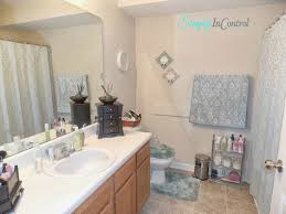 How To Decorate An Apartment Bathroom by Simply In Control Apartment Bathroom Makeover And Organization