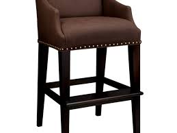 Modern Counter Height Chairs Kitchen Cabinets Dark Chocolate With Nail Head Counter Stools
