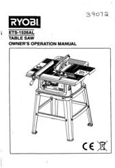 Ryobi Table Saw Manual Ryobi Ets 1526al Manuals